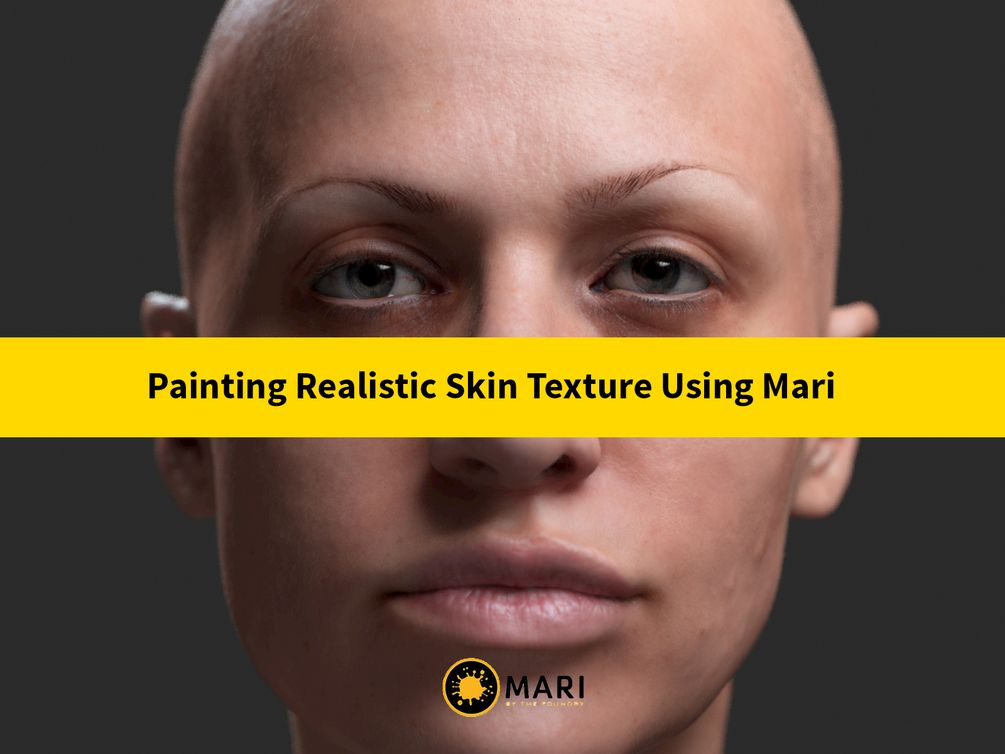 Painting a Realistic Skin Texture Using Mari | FreeD