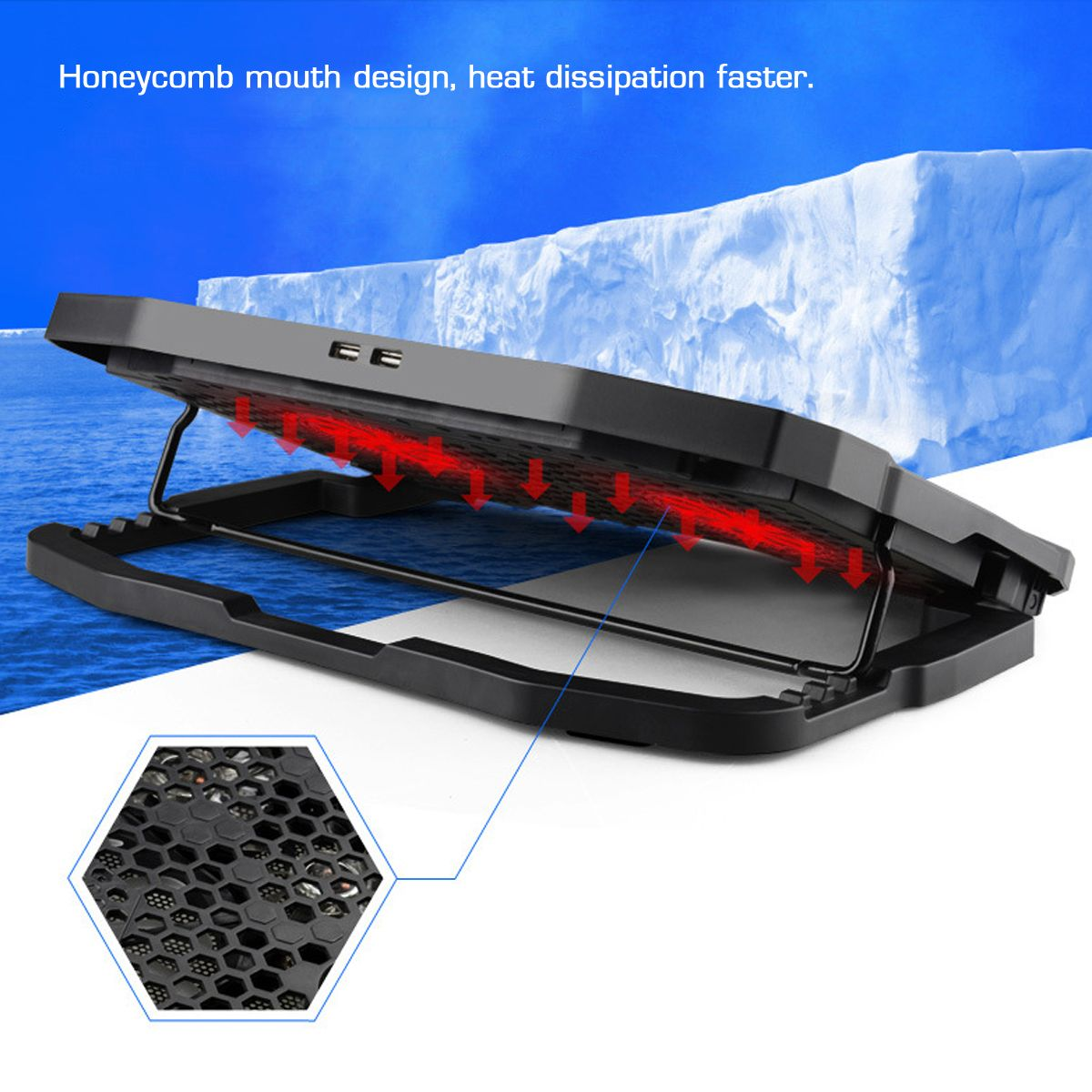 Bakeey Adjustable Speed Laptop Stand Laptop Cooler Heat