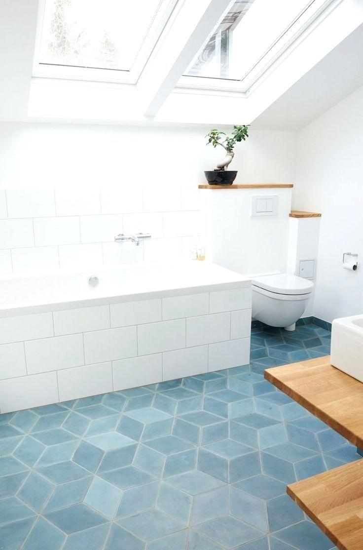 Bathroom Teal Concrete Diamond Tiles Marrocan Funkis Style ...