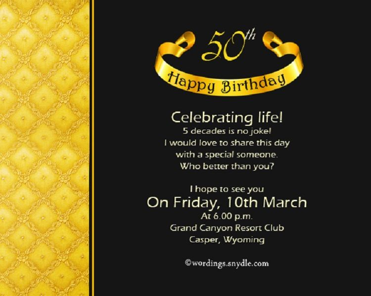 Unique 50th Birthday Invitations