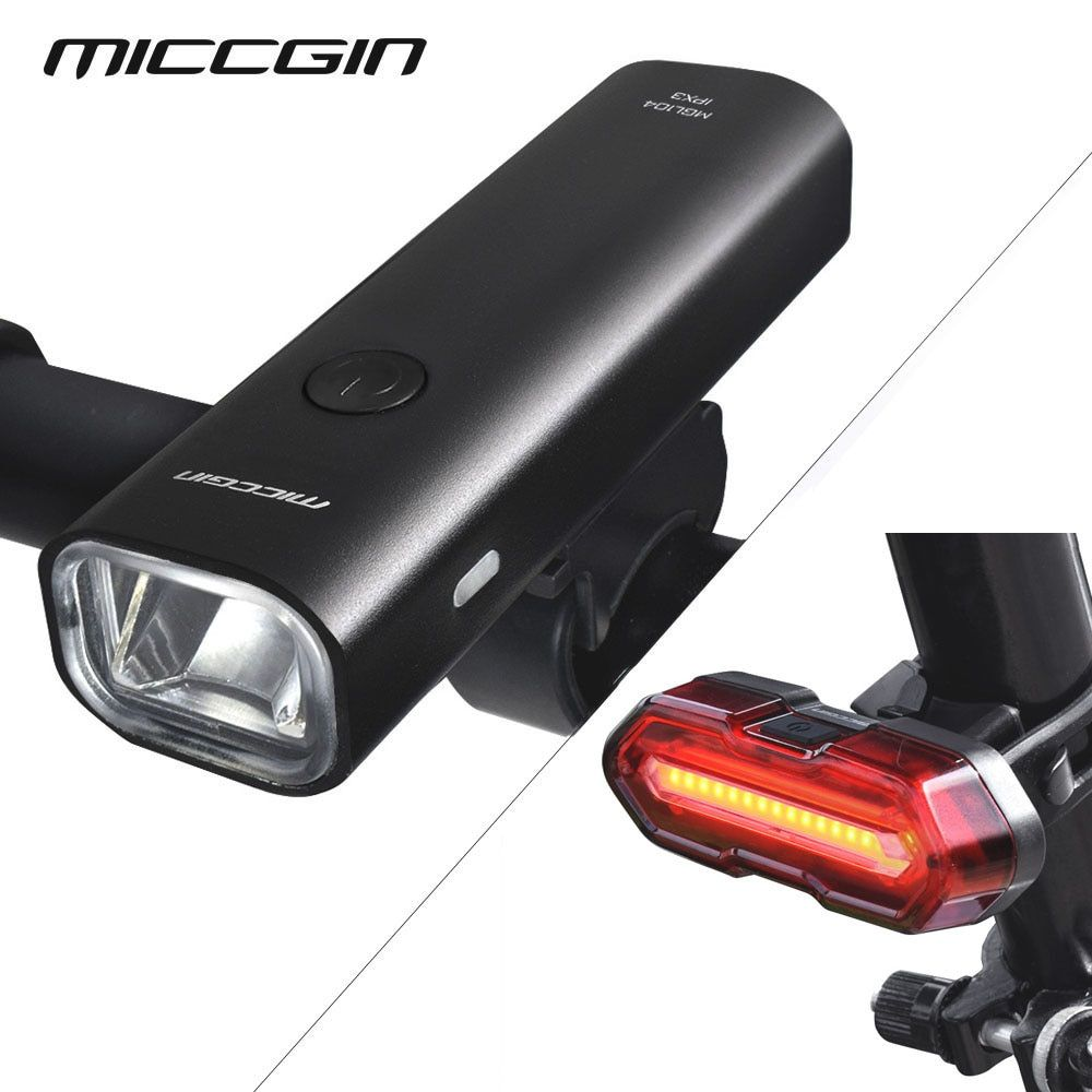 LED Bike Front Light Bicycle Lamp USB Rechargeable Flashlight 500Lumen Headlight