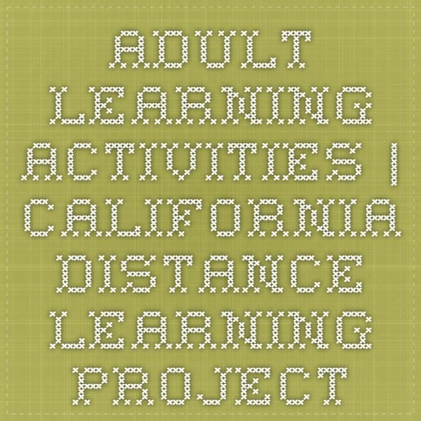 Adult Distance Learning