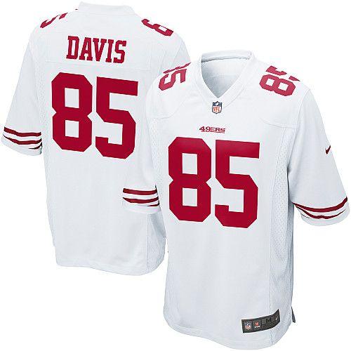 best service d8418 9b6e7 Small Men's Nike San Francisco 49ers Vernon Davis Game White ...