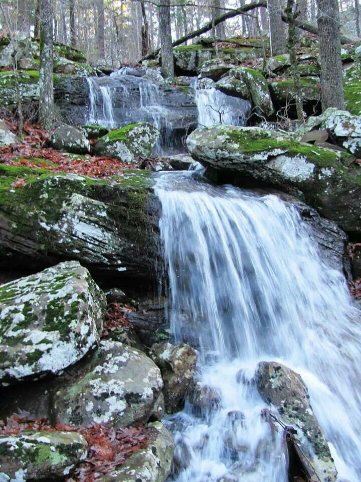 Mt. Petit Jean waterfall winter 2014 Arkansas