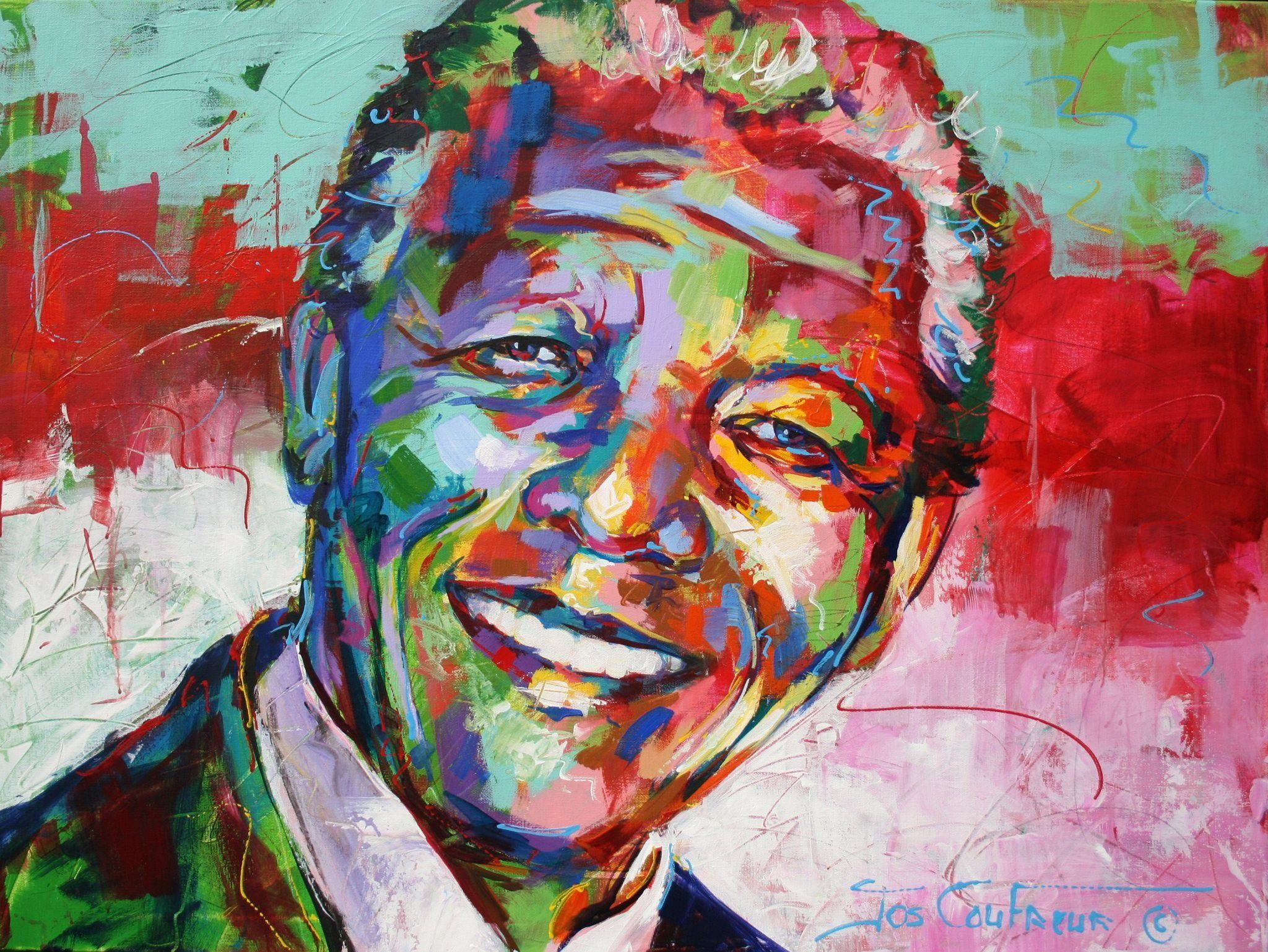 Jos Coufreur Nelson Mandela Portraits Fauvisme Et