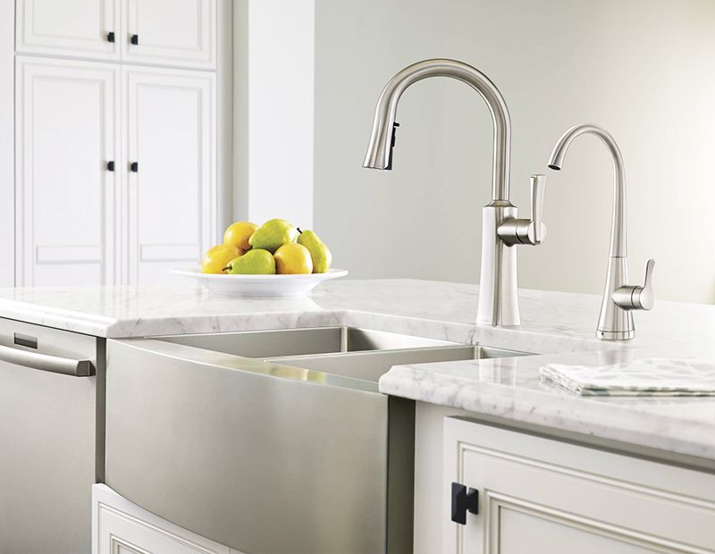 The etch sink faucet and sip beverage faucet complete almost any etch chrome one handle high arc pulldown kitchen faucet s72608 workwithnaturefo