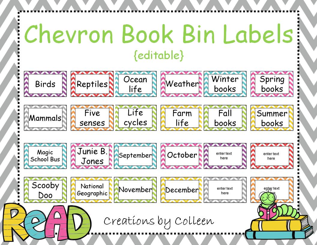 Classroom Bin Labels Printable: Adventures In Teaching