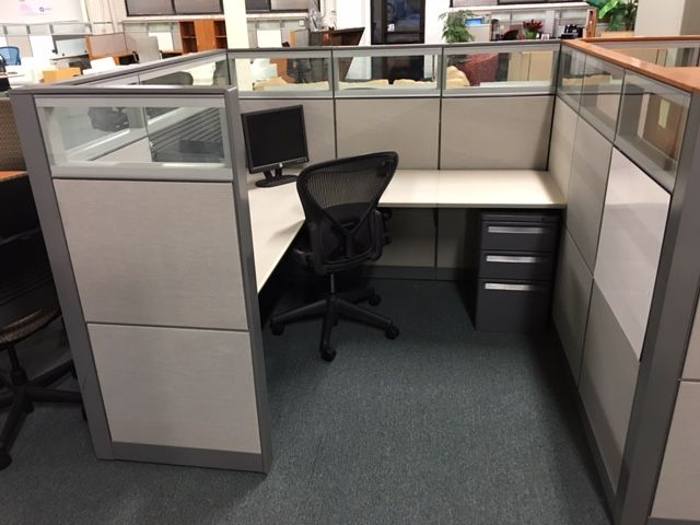 Maximum Office Cubicle Privacy Is Assured With A 56 Inch Cubicle