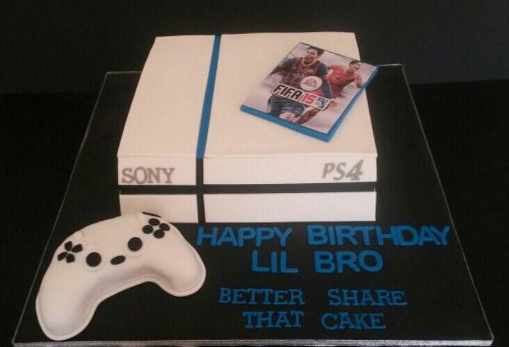 Ps4 Cake Ps4 Cake Playstation Cake Birthday Cake Kids