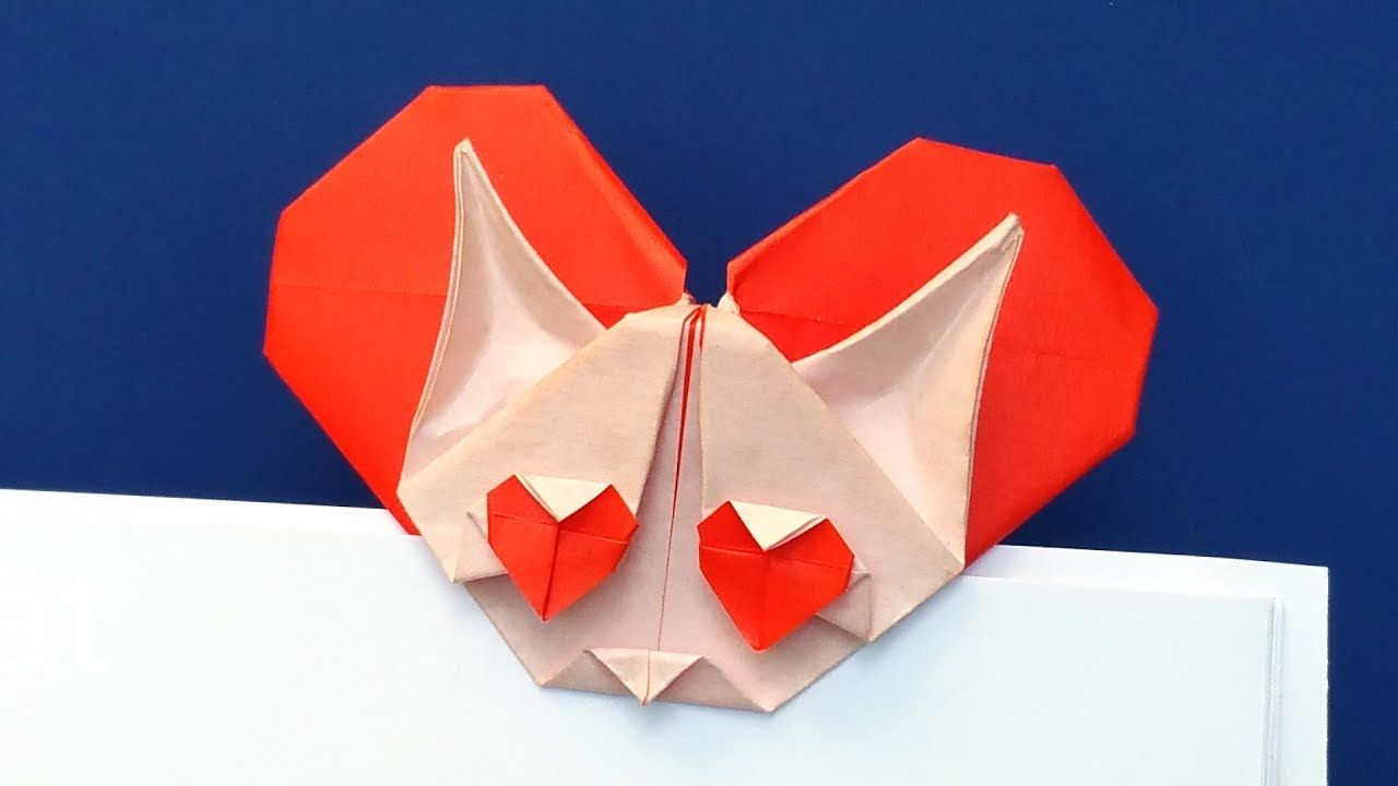 Origami heart cat bookmark easy tutorial youtube origami origami heart cat bookmark easy tutorial jeuxipadfo Image collections