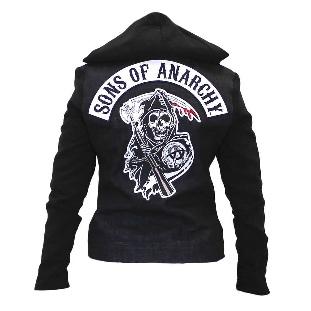 bikerornot store sons of anarchy denim highway jacket. Black Bedroom Furniture Sets. Home Design Ideas