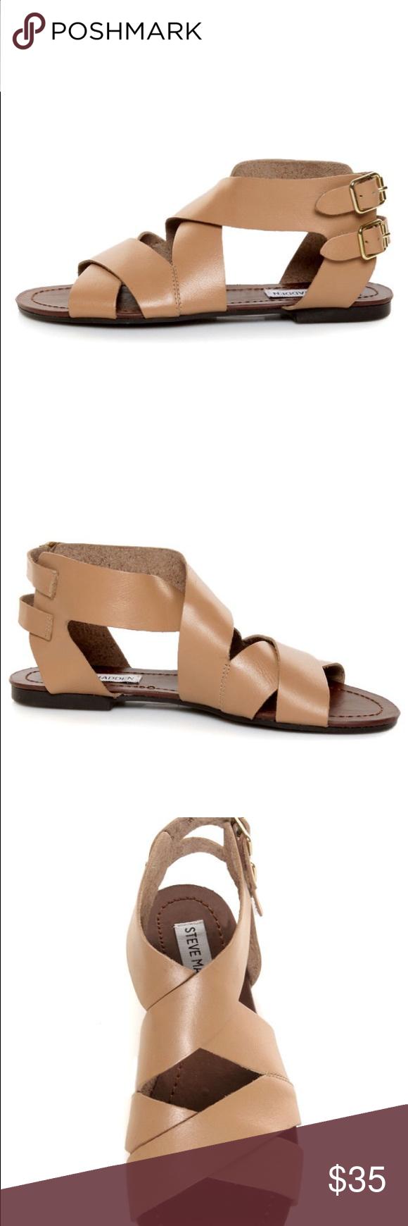 Steve Madden Gladiator Sandals Worn one time. Size 9. Will ship next day  Steve
