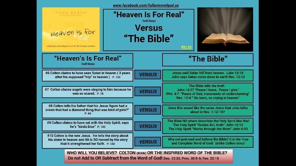 Heaven is for Real Movie  Warn others about its false teachings!