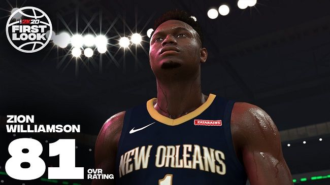 Zion Williamson Ranked An 81 In NBA 2K20 Release On 2KDay