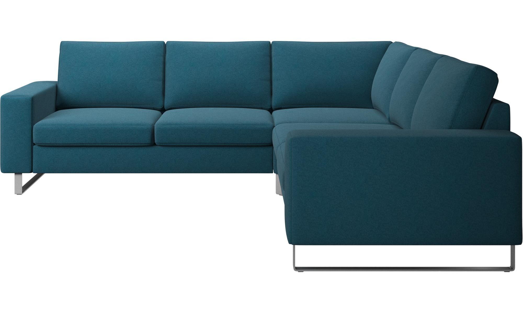 Indivi corner sofa | Corner sofa, Sofa, Blue fabric