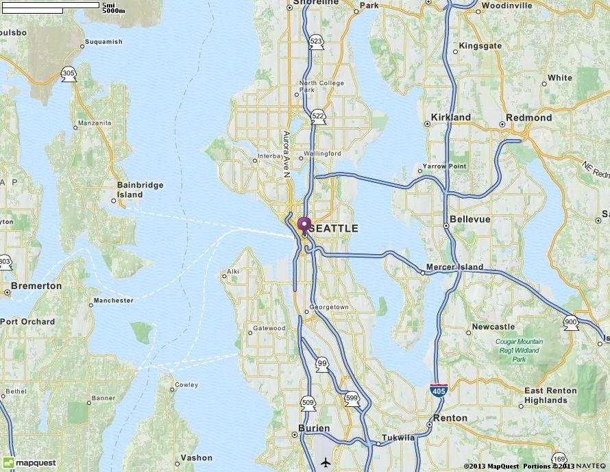 Map Of Seattle Wa Seattle Washington Hotels Restaurants Airports