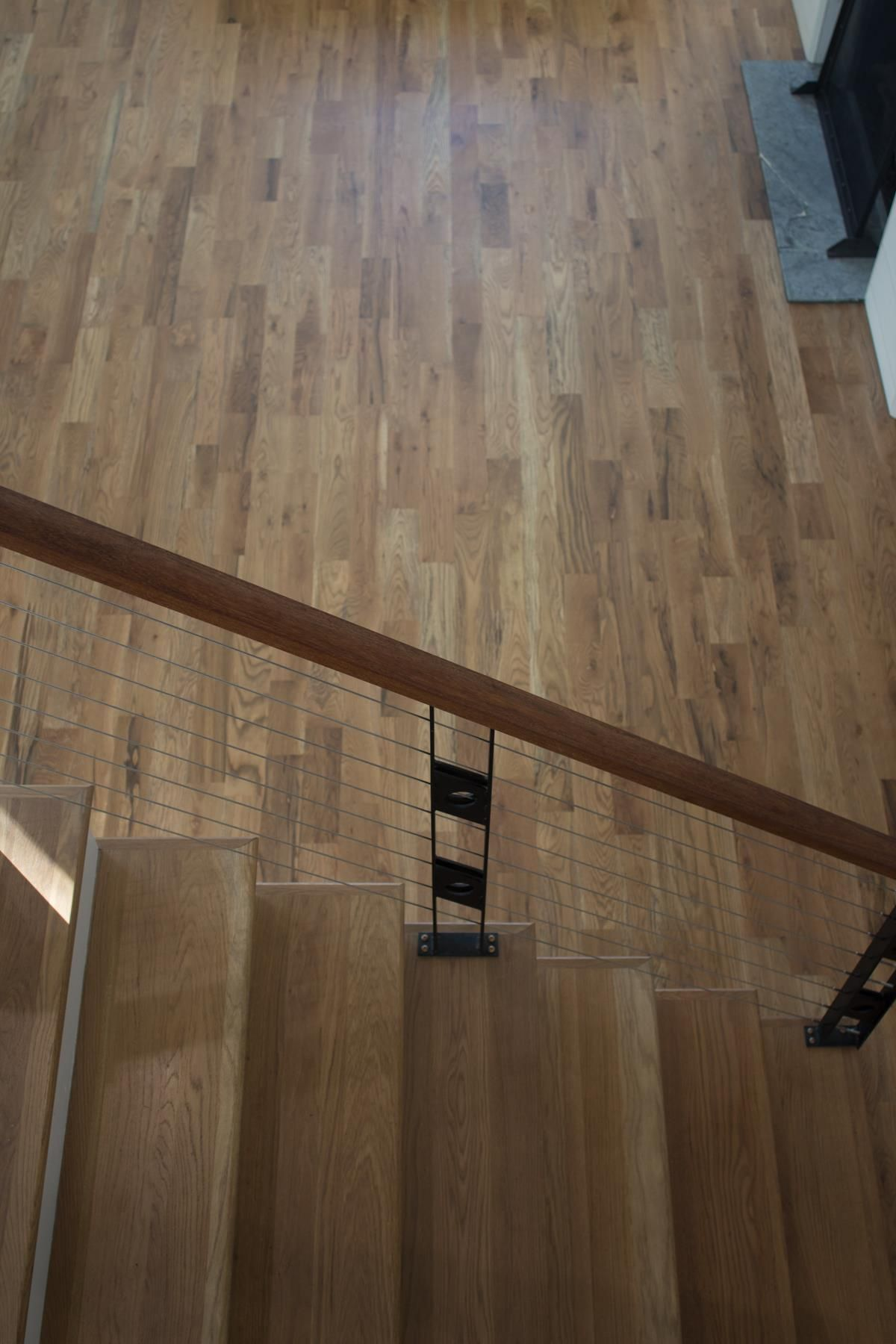 These White Oak Stair Treads Are Stained With Duraseal In The | Unfinished Hickory Stair Treads | Hardwood Lumber | Stair Nosing | Stainable | Flooring | Prefinished
