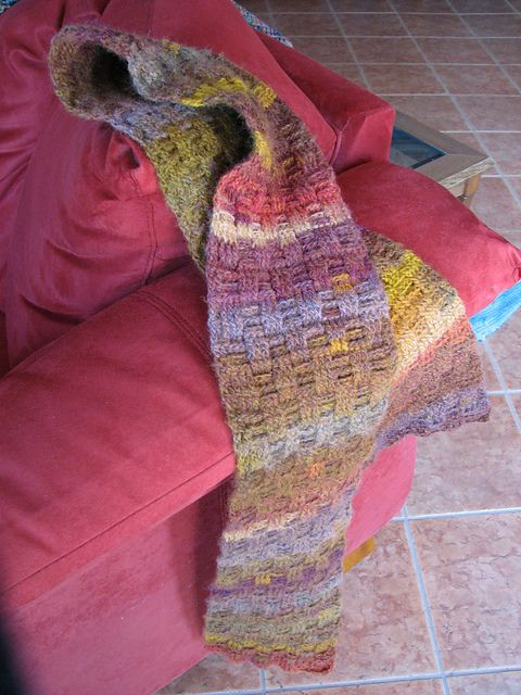 Amazing Basketweave Scarf by Anna Murphy | crochet tutorials scarves ...