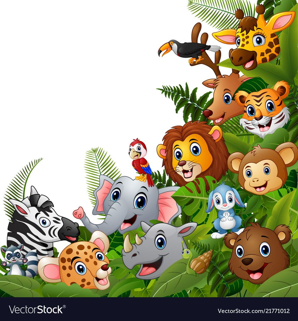 Animals forest cartoons meet together vector image on in