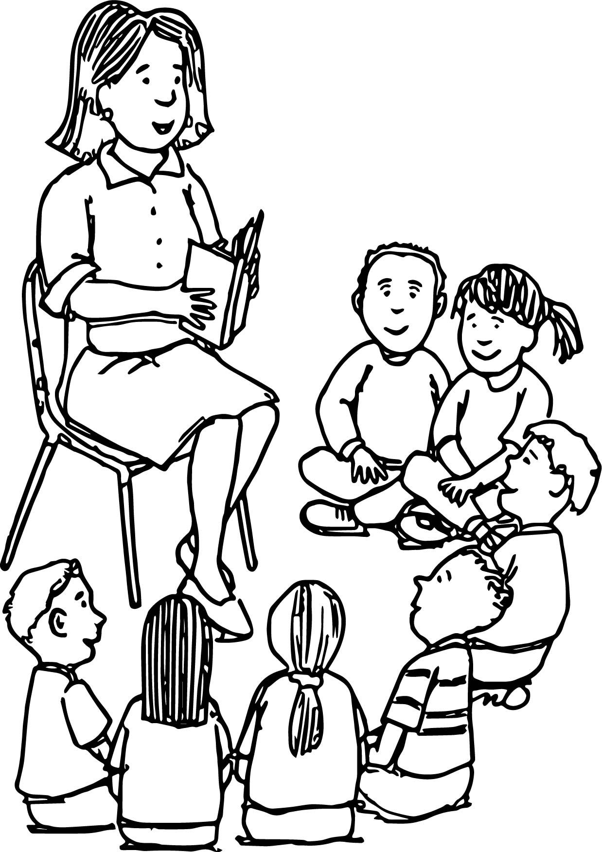 Awesome Reading Teacher All Student Coloring Page