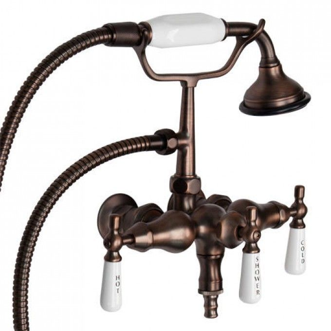 Woodrow Wall Mount Bathtub Faucet With Hand Shower Safer For The