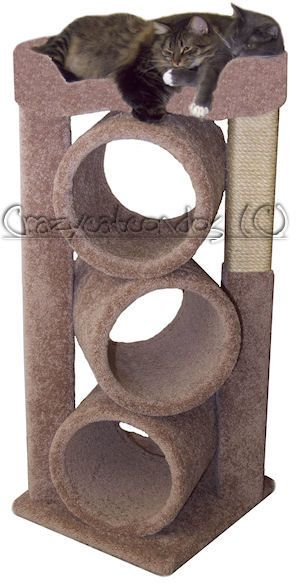 Moon Shaped Tube Center Cat Gym Has 3 Round Tubes 12 Diameter X 17 Moon Shaped Seat 17 X 24 With 4 Snuggly Sides 19 Cat Tree House Cat Gym Cat Furniture