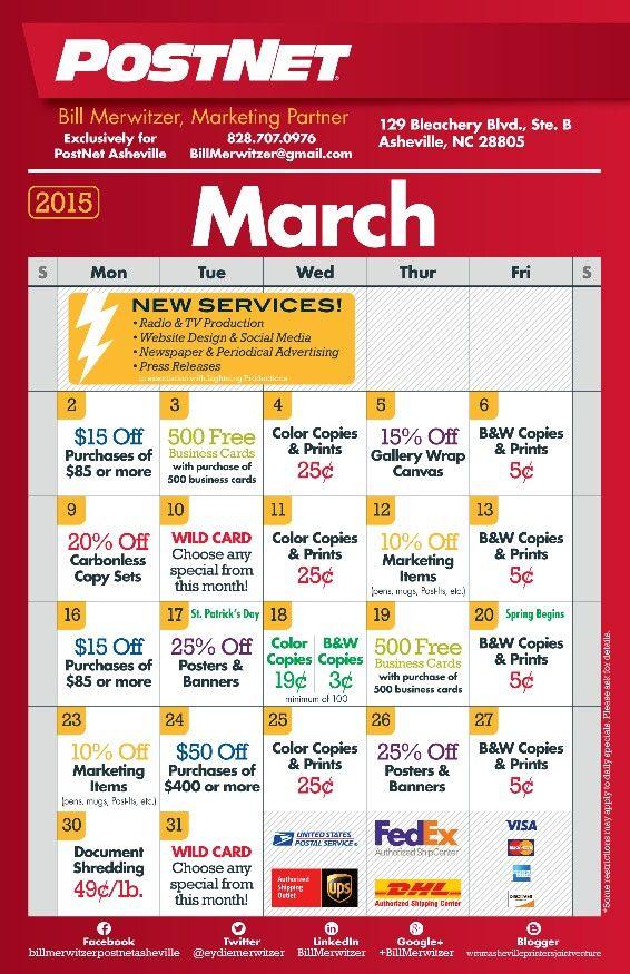 Postnet printing specials for march 2015 postnet asheville postnet printing specials for march 2015 colourmoves