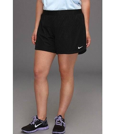 women's 2x plus size nike shorts black mesh just do it dri-fit xxl