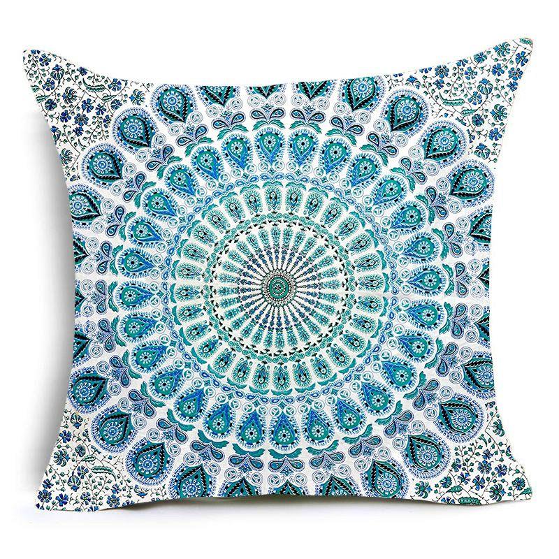 Hippie Mandala Style Pillow Cover | Mandala Bedding | Sofa ...
