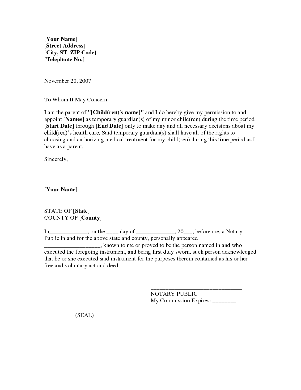 Attorney Form Template Power Authorization Letter Sample Special