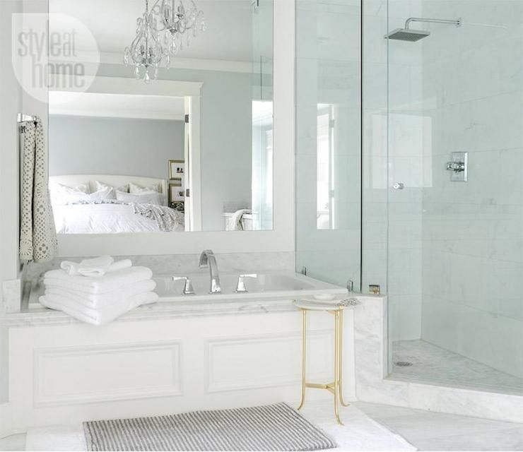 Style At Home Bathrooms Bathtub Wainscoting Tub
