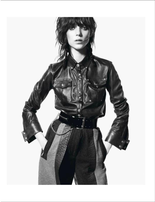 Vogue Paris November 2012: Le Noir Dans La Peau Featuring Kati Nescher Shot by DavidSims, black leather trend
