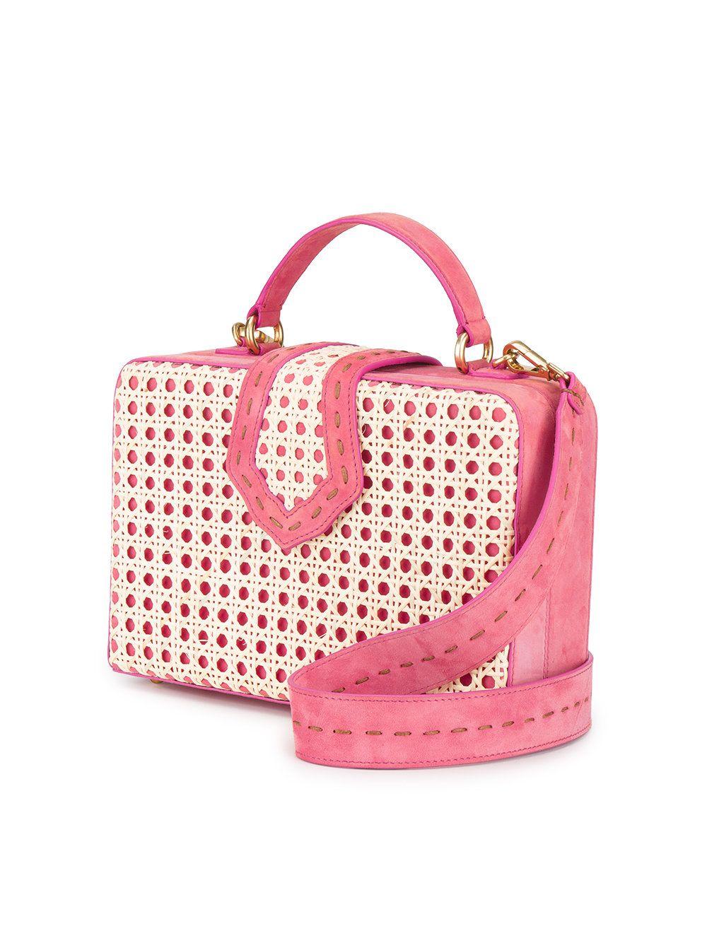 Mehry Box Pink Rattan Fey Bolso Mu 84q8d