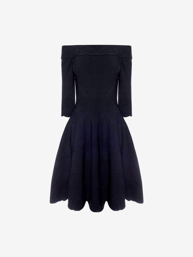 2c1045ee5 Alexander McQueen Shell Jacquard Mini Dress | Products | Dresses ...