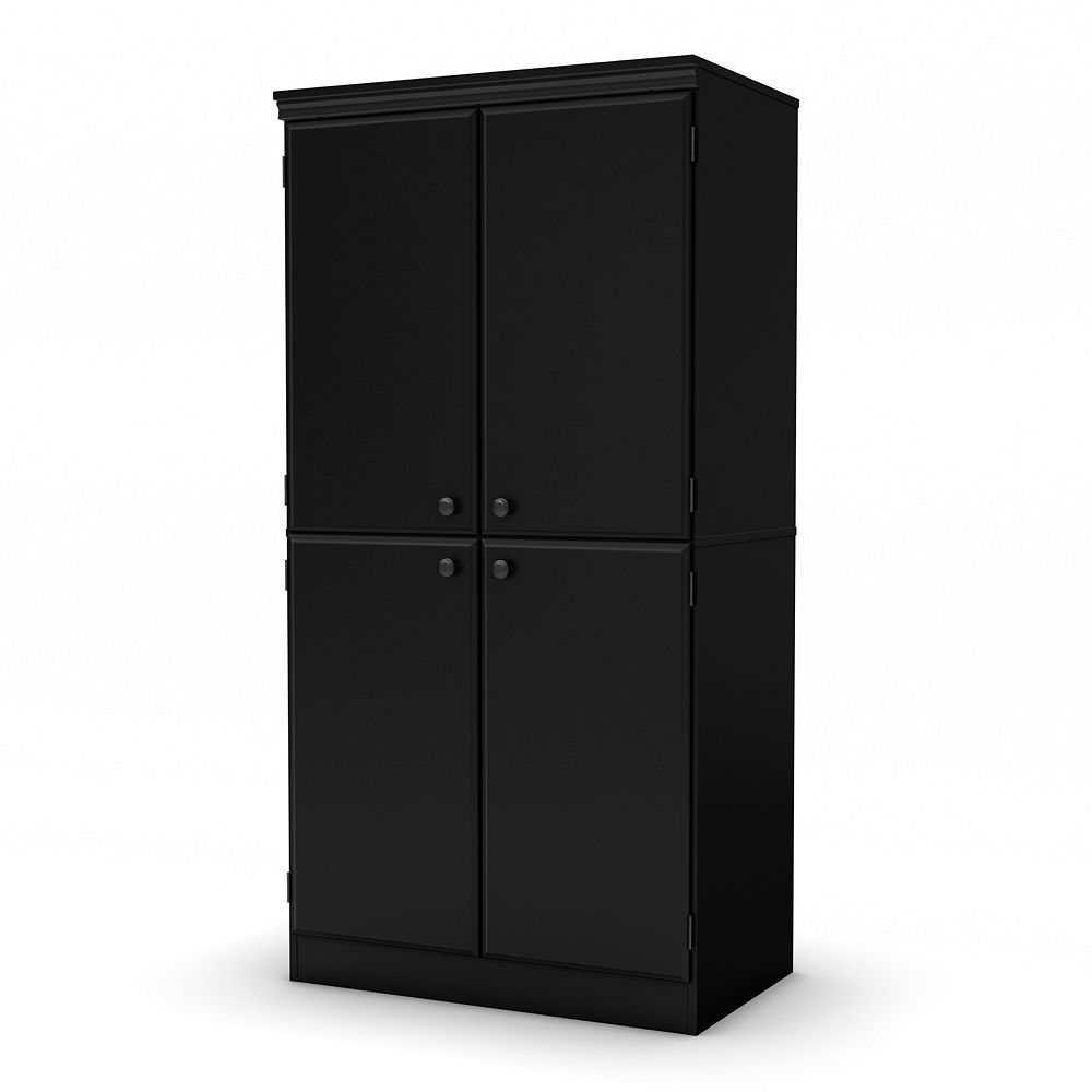 South Shore Axess Storage Cabinet, Black | Office storage ...