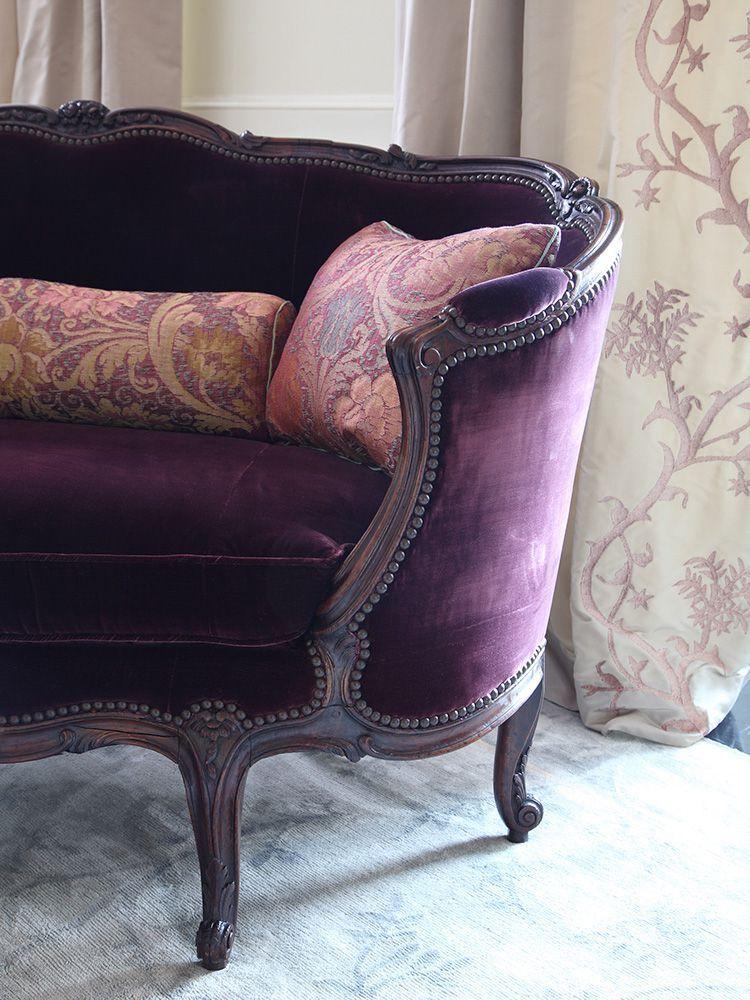12 Royally Purple Velvet Sofas For the Living Room | French ...