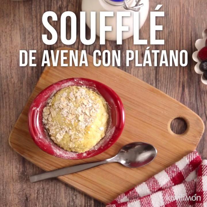 Soufflé de Avena con Plátano