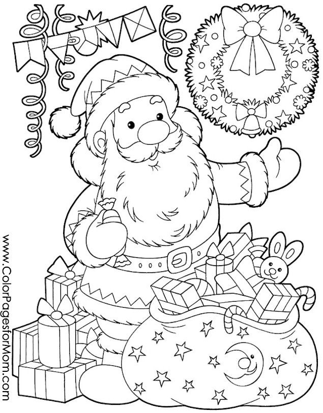 Christmas Coloring Page 17 Winter and Christmas Coloring Pictures - new advanced coloring pages pinterest