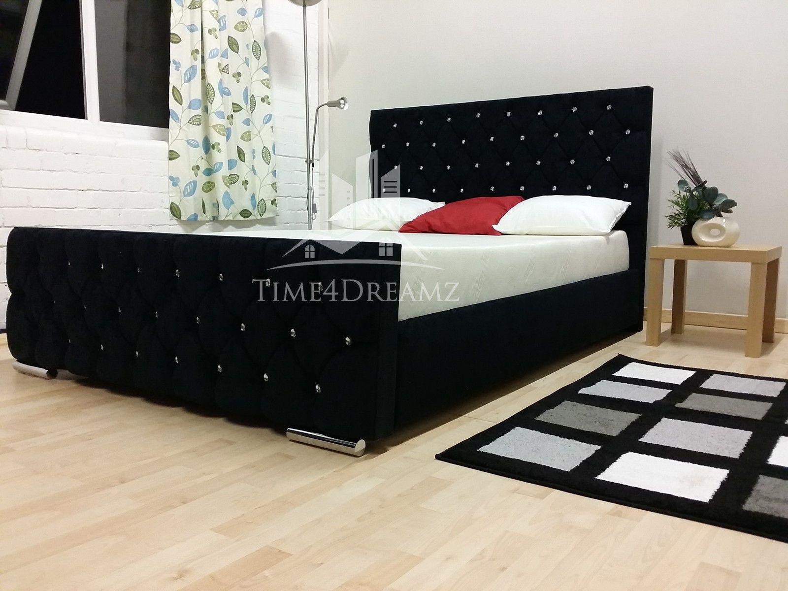 Details about Diamond Florida Teal Upholstered Bed Frame