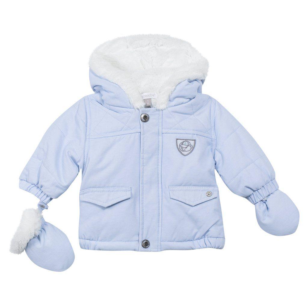 Absorba Baby Boys Parka Pram Coat Blue  78020dd2b57d