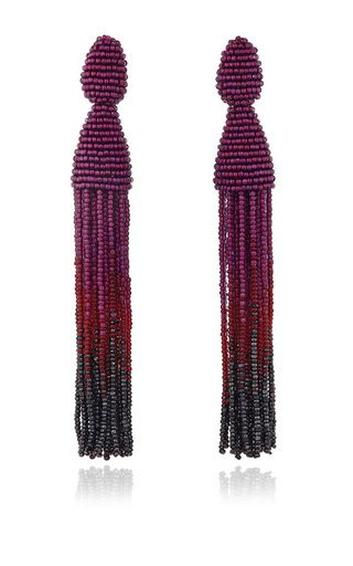 Ombré tassel earrings by OSCAR DE LA RENTA Now Available on Moda Operandi