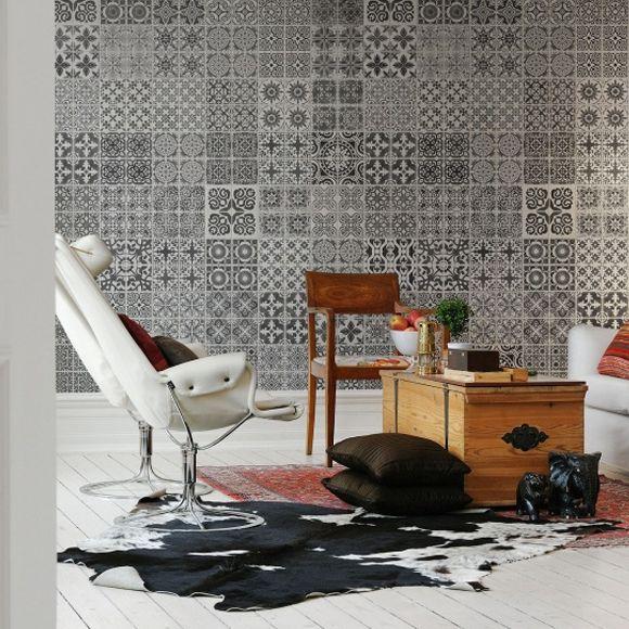 panneau marrakech interior livingroom papier peint carrelage et carrelage motif. Black Bedroom Furniture Sets. Home Design Ideas