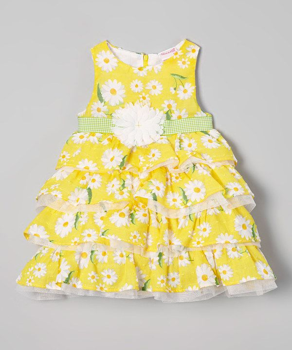 Look at this Nannette Yellow Floral Ruffle Dress - Infant & Girls on #zulily today!