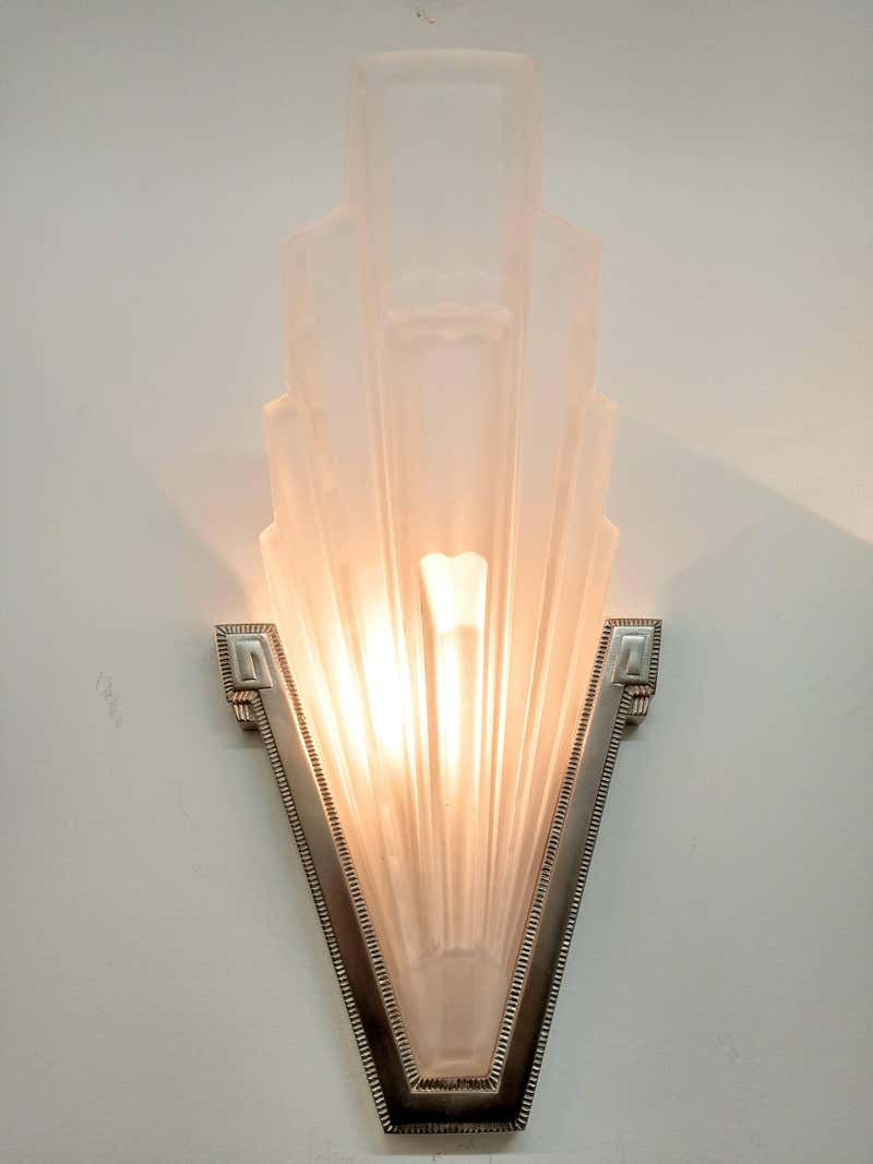 French Art Deco Wall Sconces By Hanots Wall Deco French Art Deco Sconces