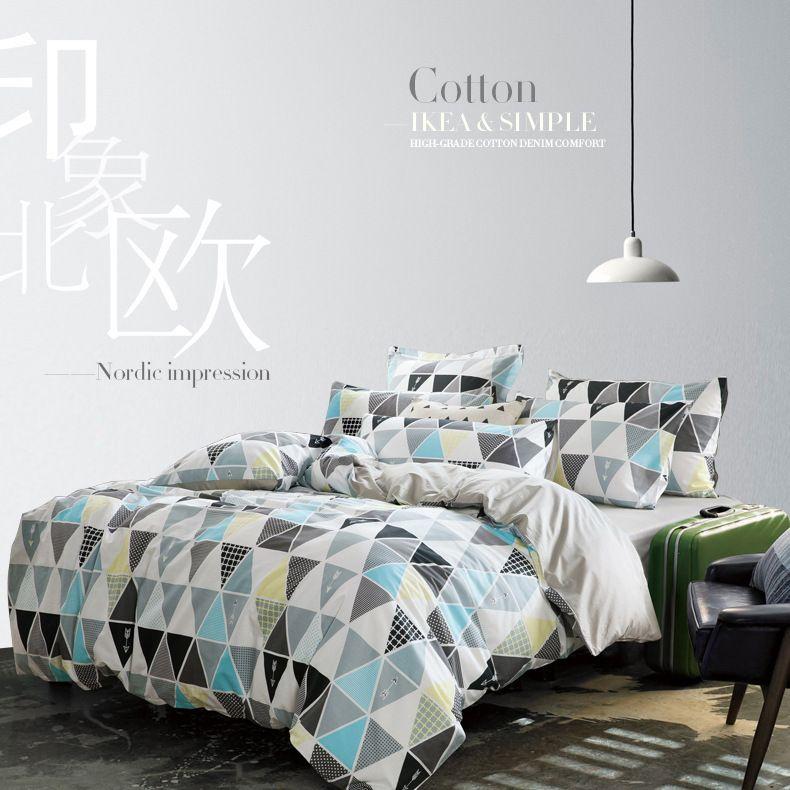 Pas cher mode 100 coton textiles de maison de style - Housse de couette style ...