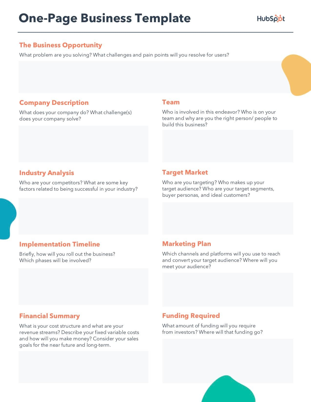 How To Build A Business Plan That Stands Out Free Template Communication Plan Template One Page Business Plan Free Business Plan