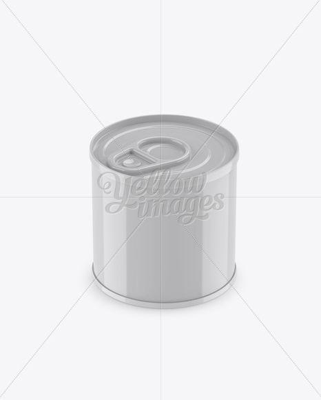 Tin Can Mockup (High-Angle Shot)