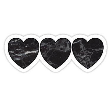 'black marble hearts' Sticker by lolosenese in 2019 ...