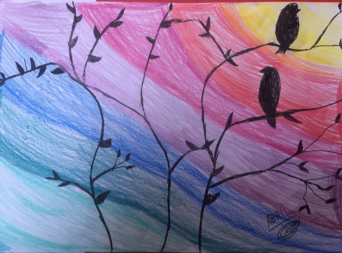 Viendo El Sol Dibujos Colores Frios Colores Calidos Y Frios Dibujos Con Colores Calidos