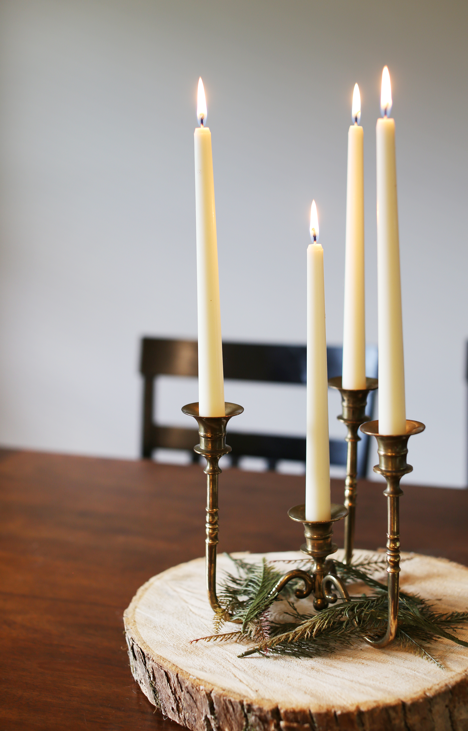 Solid Brass Pillar Candlestick Holder Perfect For Weddings